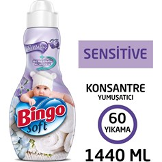 BİNGO KONSANTRE SOFT SENSİTIVE ÇAMAŞIR YUMUŞATICISI 1440 ML