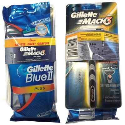 GİLLETTE MACH 3 MAKİNA+BLUE II  5 Lİ