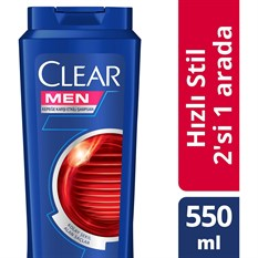 CLEAR ŞAMPUAN 550ML BAY KEPEK HIZLI STİL