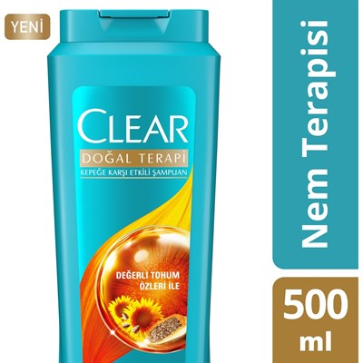CLEAR ŞAMPUAN 500ML BAYAN NEM TERAPİSİ