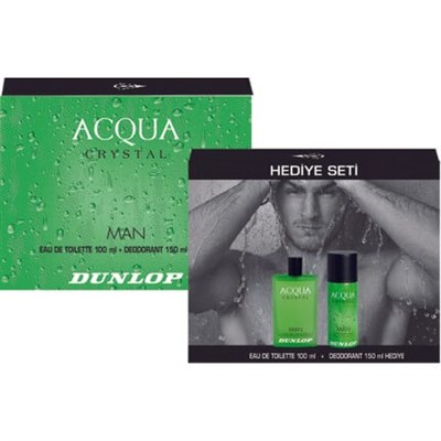 DUNLOP ACQUA EDT 100ML +  DEO CRYSTAL