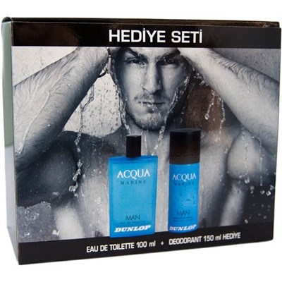 DUNLOP ACQUA EDT 100ML +  DEO MARINE